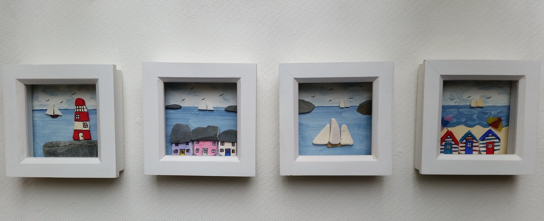Nautical Wall Decor Mix And Match Coastal Scenes In Mini Frames
