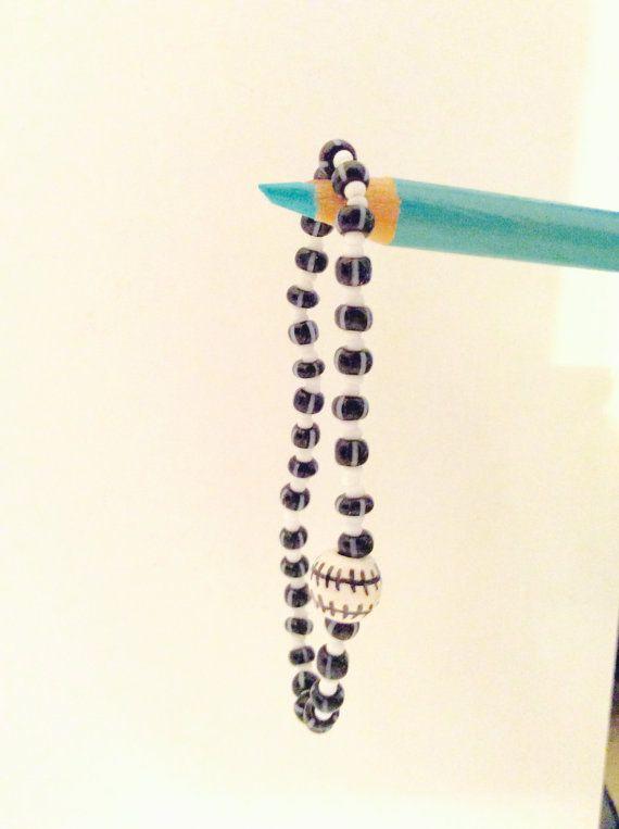 stretch baseball bracelet baseball jewelry by JeriAielloartstore