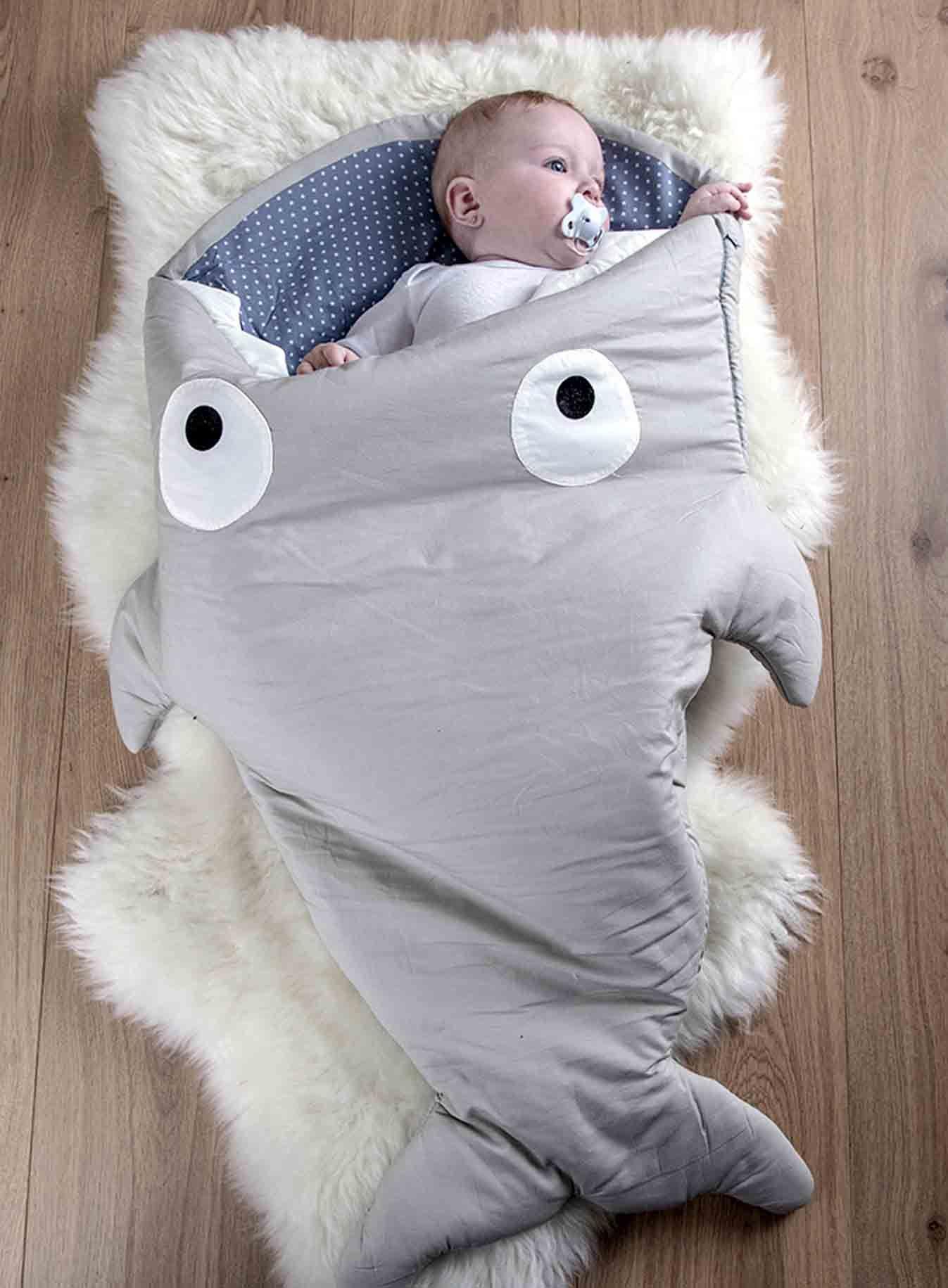 a29852a2c30 Imagen principal de Saco Tiburón gris   SEWING   Dormir bebe, Sacos ...