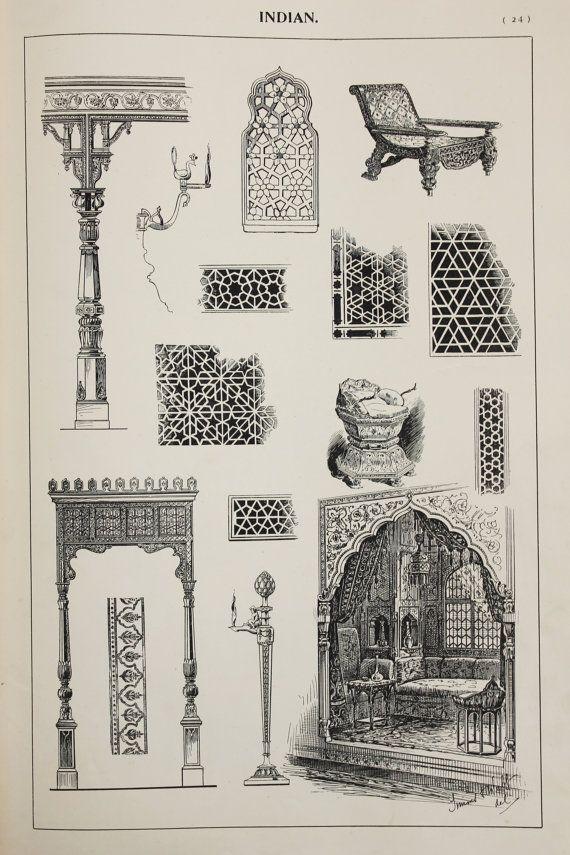 Indische oder indische Möbel Designs Large Antique von PaperPopinjay #indischemöbel Indische oder indische Möbel Designs Large Antique von PaperPopinjay #indischemöbel