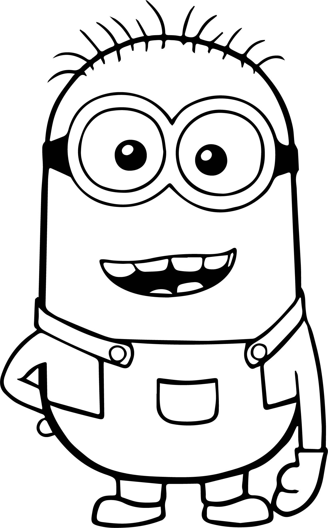 Awesome Minion Ha Ha Coloring Page