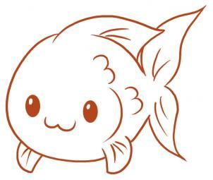 How To Draw A Fish By Dawn Fish Drawings Drawn Fish Art Drawings For Kids
