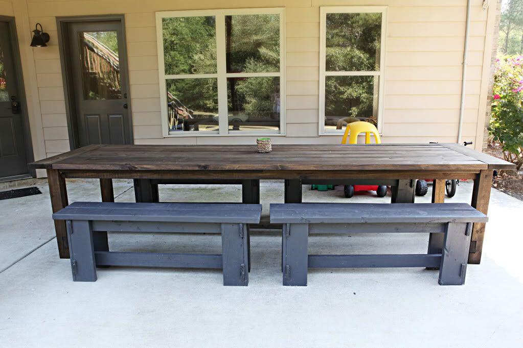 Varnish Virgin Patio Table Diy Outdoor Table Outdoor Tables