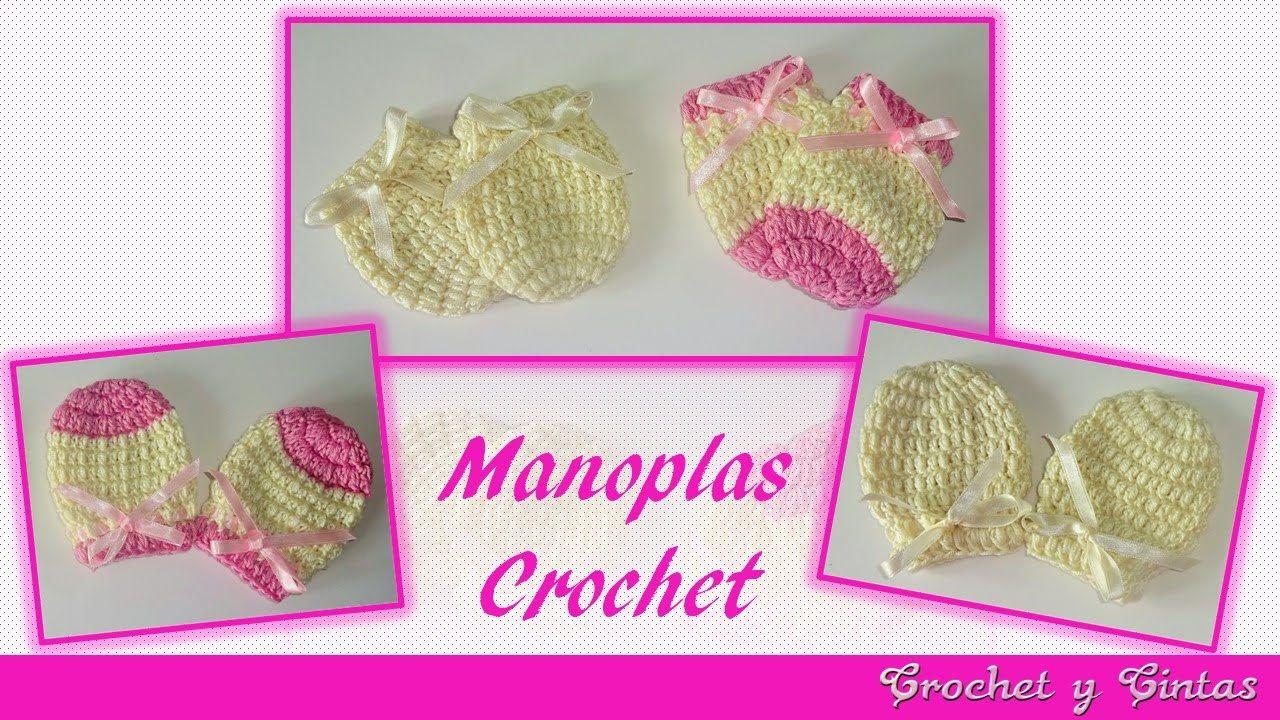 Manoplas – Mitones tejidos a crochet para bebés | Bebê - luvinhas ...