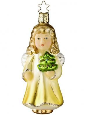 Inge-Glas Heavenly Messengers Collection: Christmas in my Heart - Girl w Tree Ornament. At Copper Strawberry http://www.copperstrawberry.com/european-furniture/inge-glas-christmas-ornaments-holiday/all-inge-glas-holiday-ornaments-at-copper-strawberry/catalog/inge-glas-christmas-in-my-heart-girl-ornament.  Inge-glas ornaments made in Germany. http://www.copperstrawberry.com/european-furniture/inge-glas-christmas-ornaments-holiday #AngelOrnament #IngeGlas #TreeOrnament  #CopperStrawberry