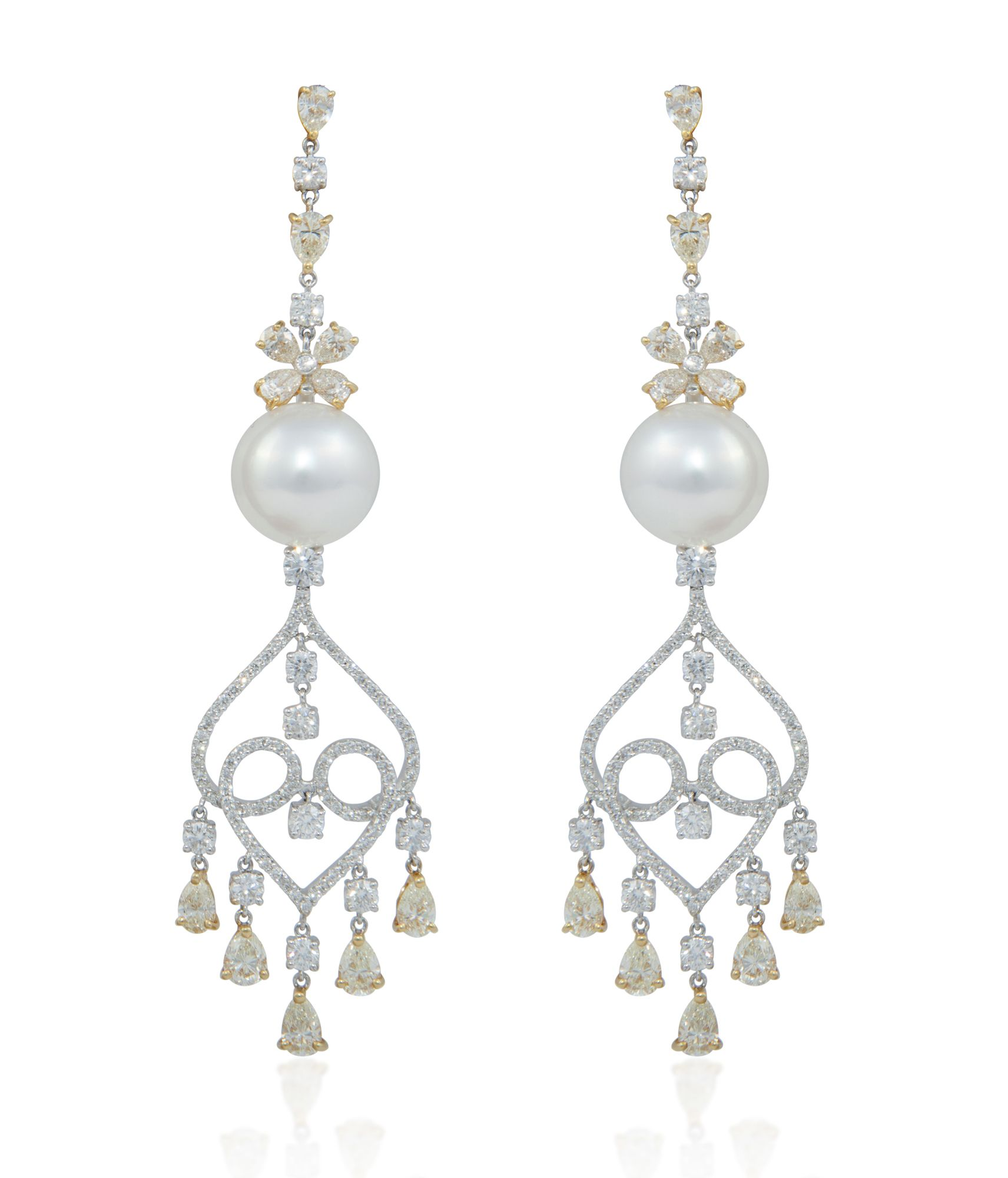 William noble william noble jewels earrings pearl and diamond william noble william noble jewels earrings pearl and diamond chandelier earrings aloadofball Image collections