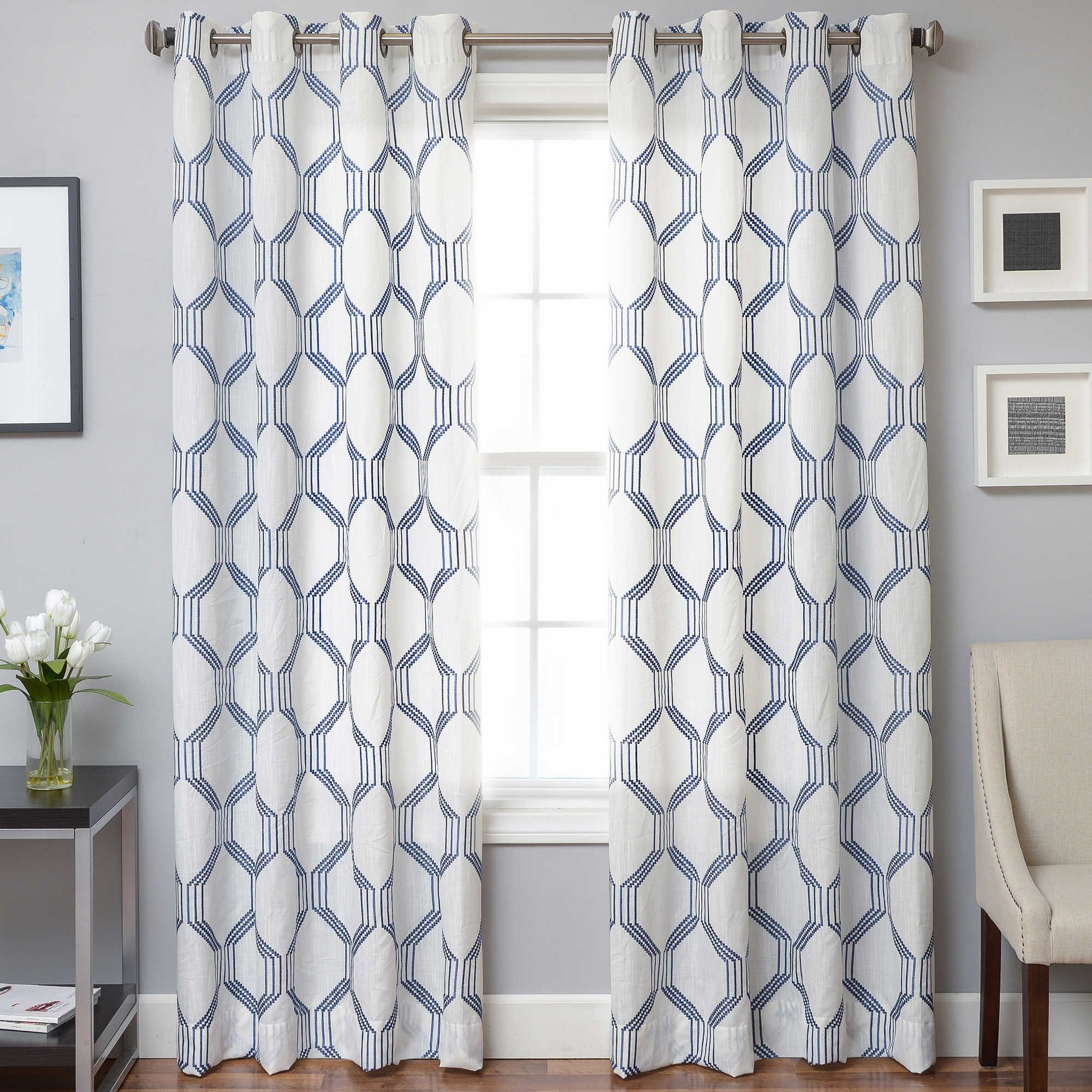 Gray curtains bedroom beverly inch window curtain panel in blue  budget friendly finds