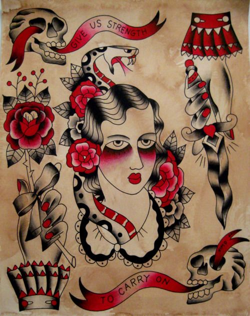 Traditional American Tattoo Tumblr Tattoos Pinterest