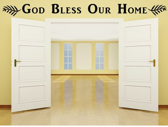 God Bless Our Home Vinyl Wall Decal, Entryway Decal, God Bless ...