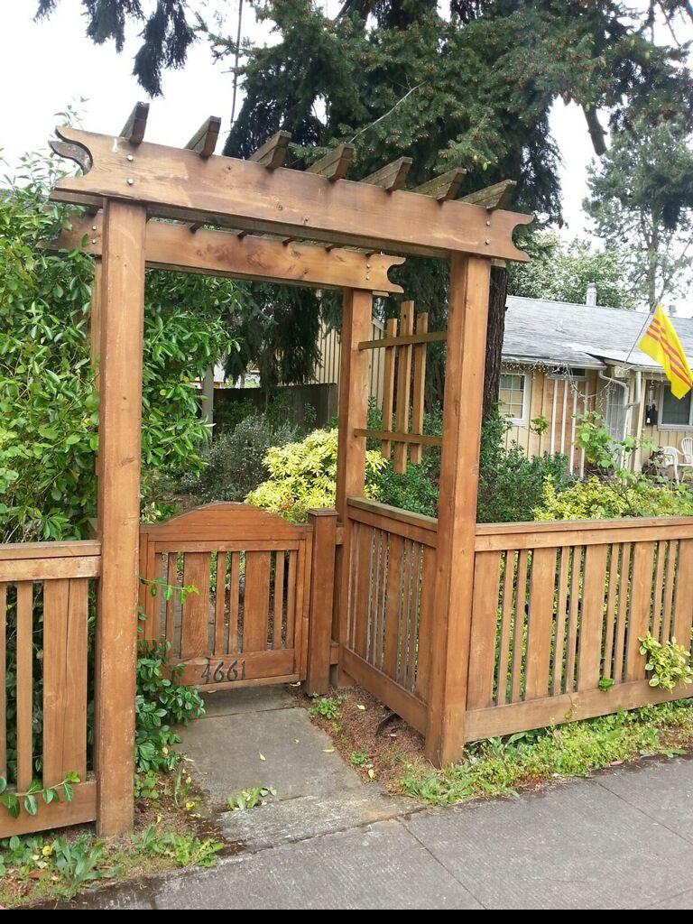 Side Yard Fence Gate Patio Railing Backyard Plan