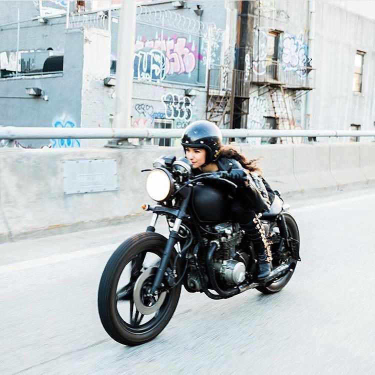 OVERBOLD MOTOR CO. — The lovely @riabird and her rad #cb650 . Great...