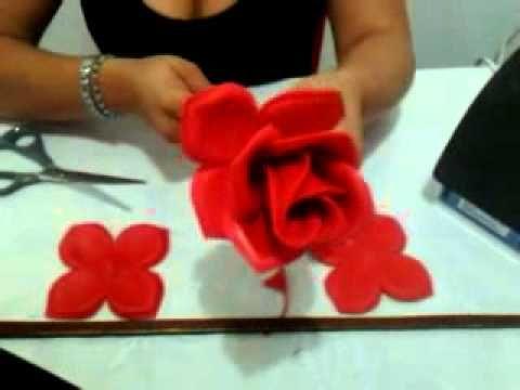 Rosas Moldes De Flores Para Hacer Arreglos Florales En Fomi Goma