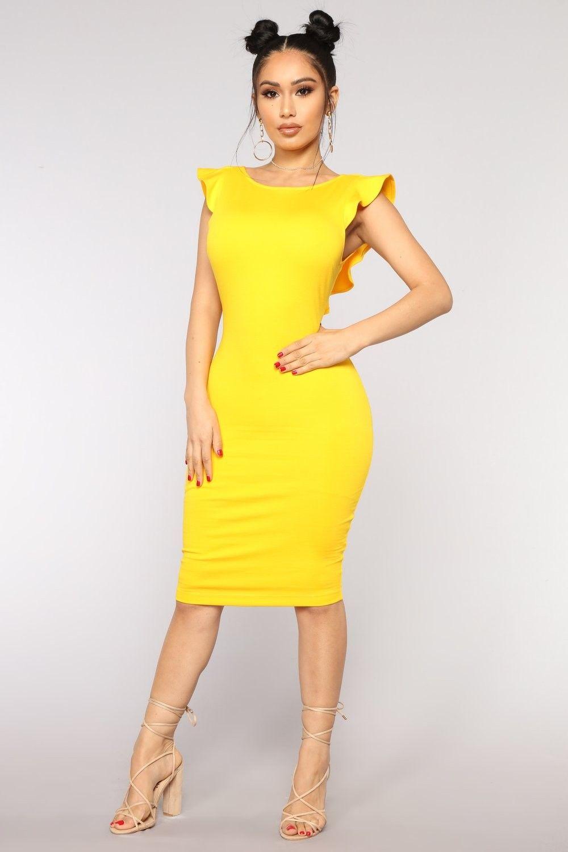 673c8bf117 Beautiful Outlook Ruffle Dress - Yellow  29.99  fashion  moda  ootd  outfit