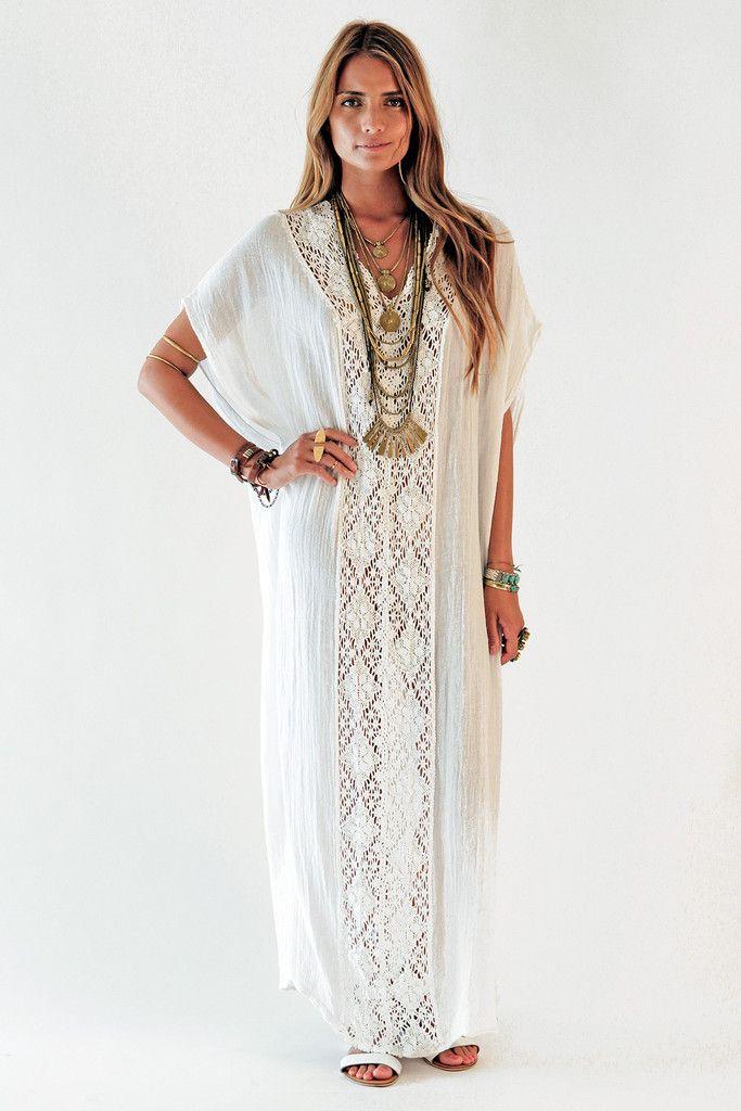 7d2dd67089 Captivate Kaftan   Boho   Kimono style dress, White kaftan, Fashion