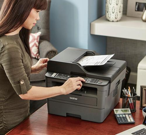 Brother Mfc L2710dw Wireless Black And White All In One Laser Printer Black Mfc L2710dw Best Buy Multifunction Printer Laser Printer Brother Mfc