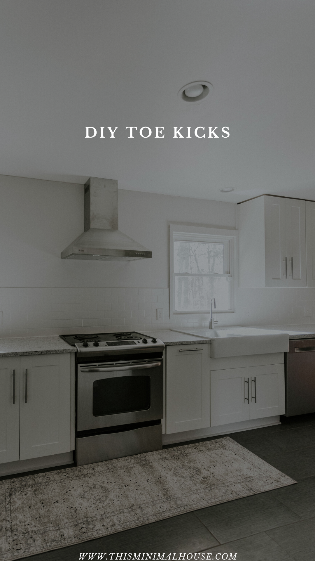 This Minimal House Diy Minimalism Home Improvement In 2020 Kitchen Cabinets Toe Kick Installing Kitchen Cabinets Ikea Hack Kitchen