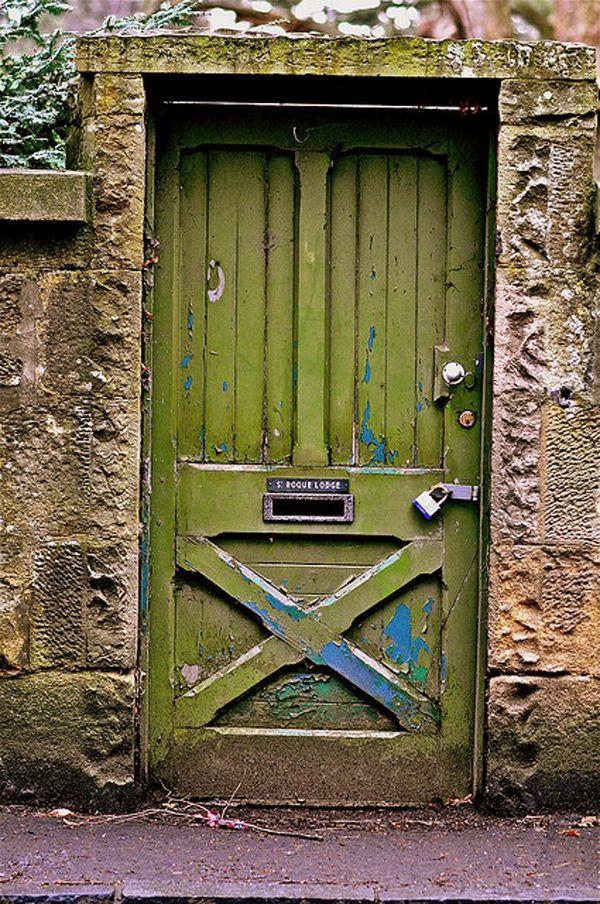 Gentil Olive Green Door In Europe