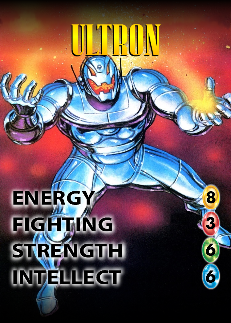 Ultron OverPower Character card Ultron comic, Marvel