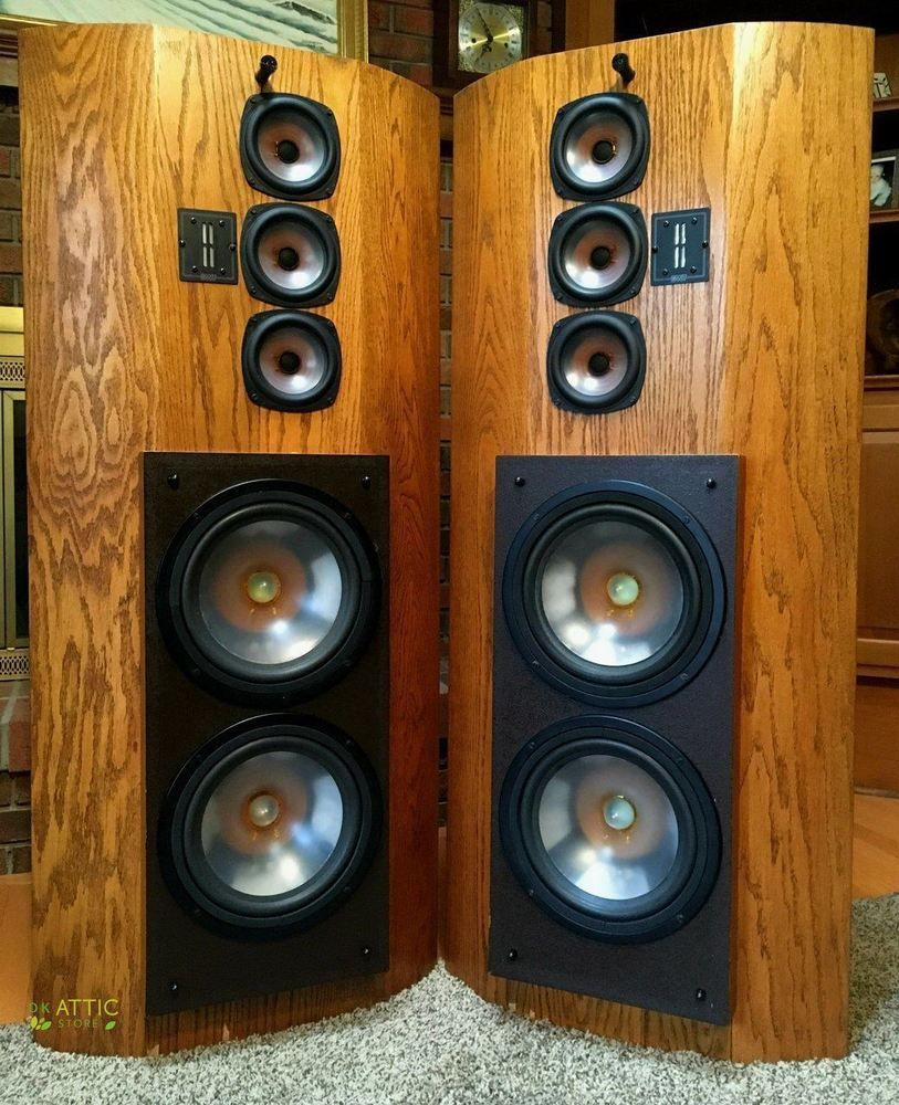 High End Speakers For Sale Ebay >> Infinity Speakers Rs Ii Rs2 Reference Standard 1985 Oak Natural