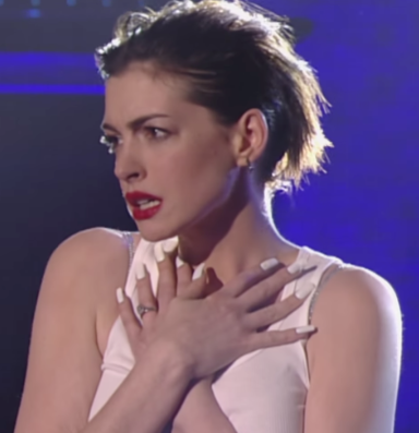 Watch Anne Hathaway S Full Wrecking Ball Performance Anne Hathaway Celebrities Lip Sync