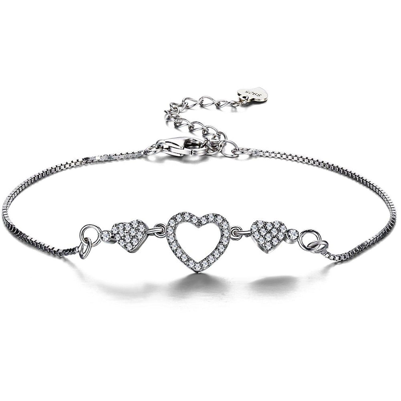 F.ZENI Women Bracelet Pearl 925 Sterling Silver Women Bead Pearl Bracelets Fashion Collection Jewellery Bracelets for Women UFzVk5