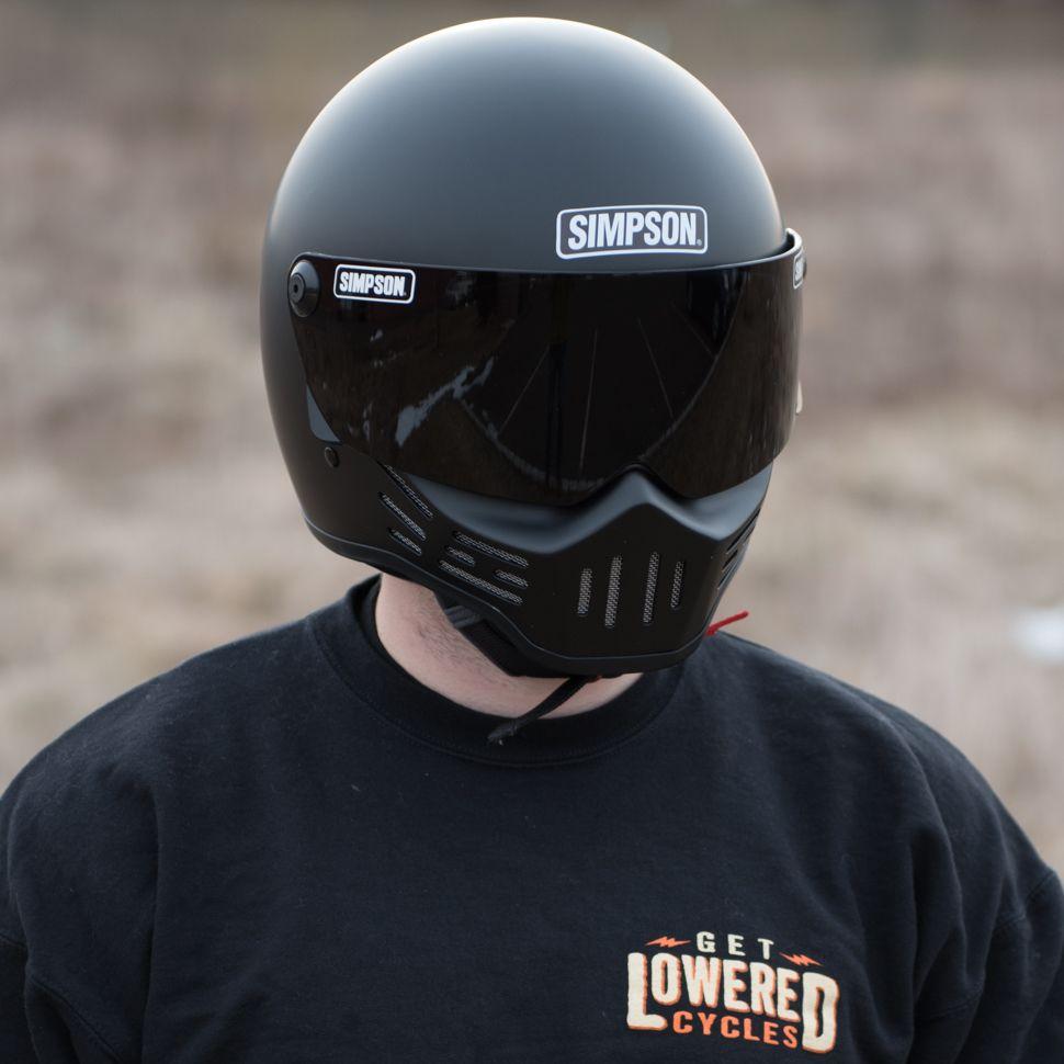 Simpson M30 Bandit Helmet Matte Black Matte black