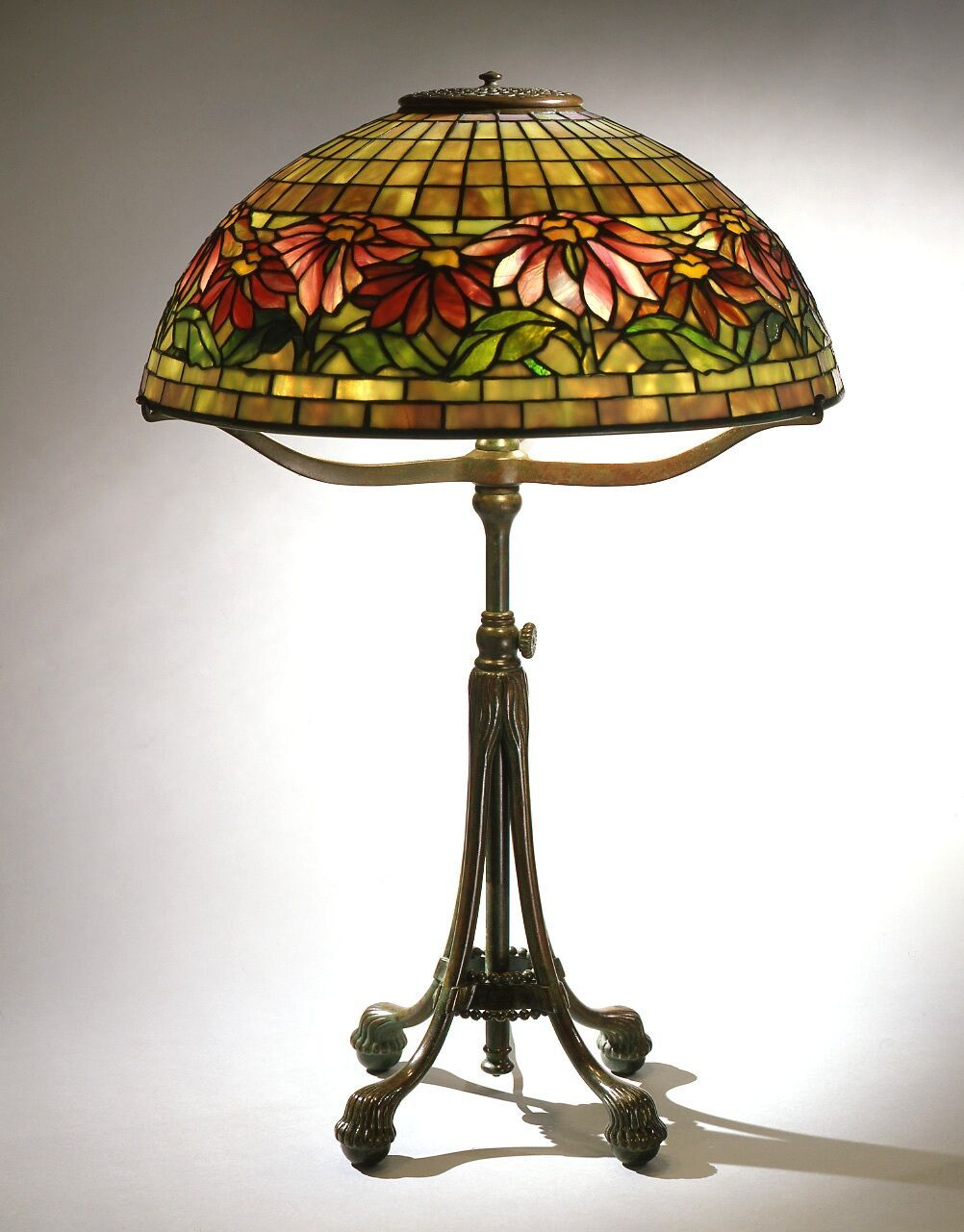 Poinsettia Library Lamp Circa 1905 Tiffany Studios 1902 1932 United States New York Leaded Gl And Bronze The Neustadt Collection Of