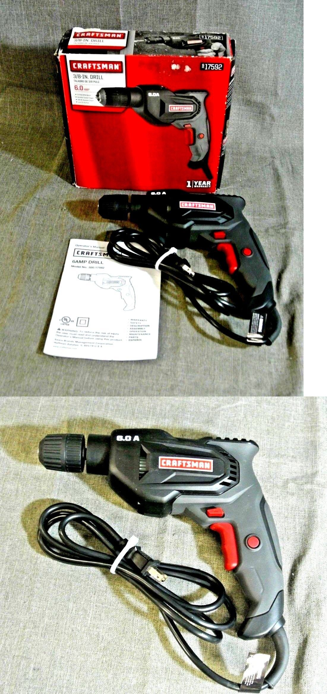 Corded Drills 184654: Craftsman 17592 3 8 6 Amp Corded Drill