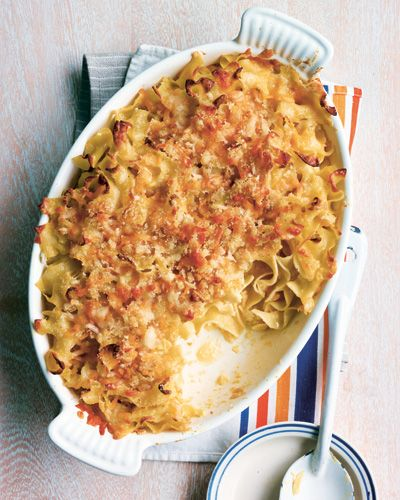 JERRY'S FAVORITE RECIPE: BAKED EGG NOODLES AND CHEESE - At Home with Jessica Seinfeld