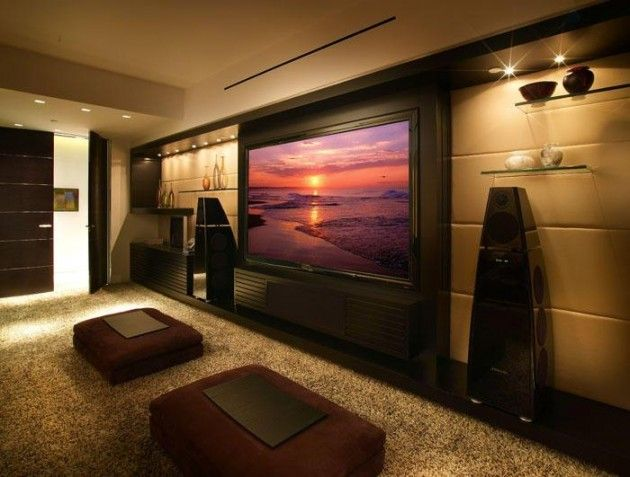20 Pretty Cool Lighting Ideas For Contemporary Living Room Media Room Design Home Theater Rooms Home Theater Design