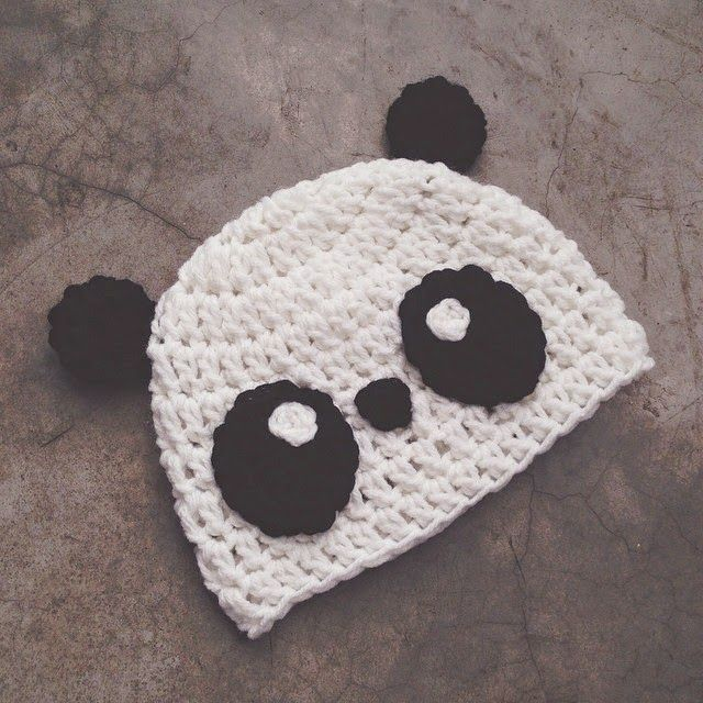 Crochet panda hat | CROCHET | Pinterest | Crochet bebe, Cosas lindas ...