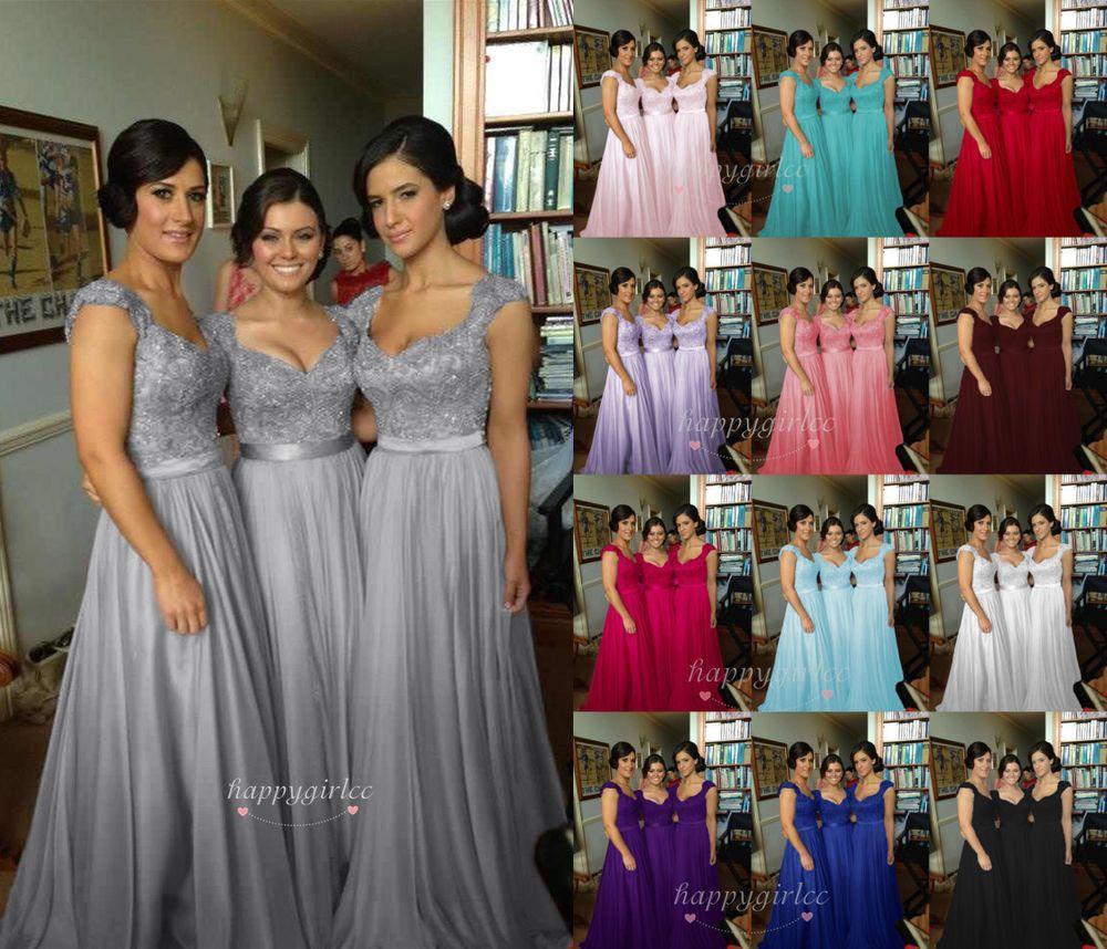 Lang Ballkleid Abendkleid,Hochzeitskleid Brautkleid,Brautjungfer