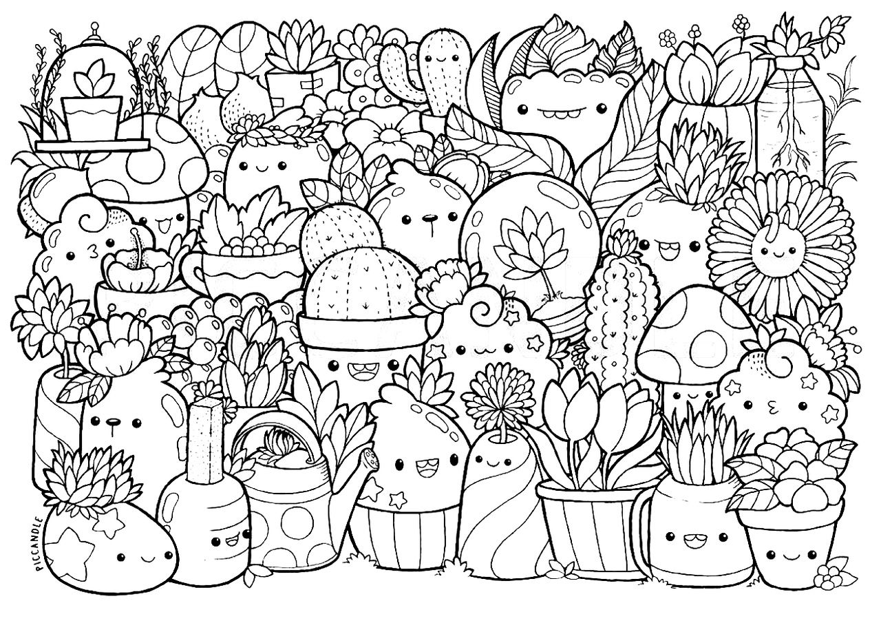 Pin by kylie stewart on Раскраска  Doodle coloring, Cute coloring
