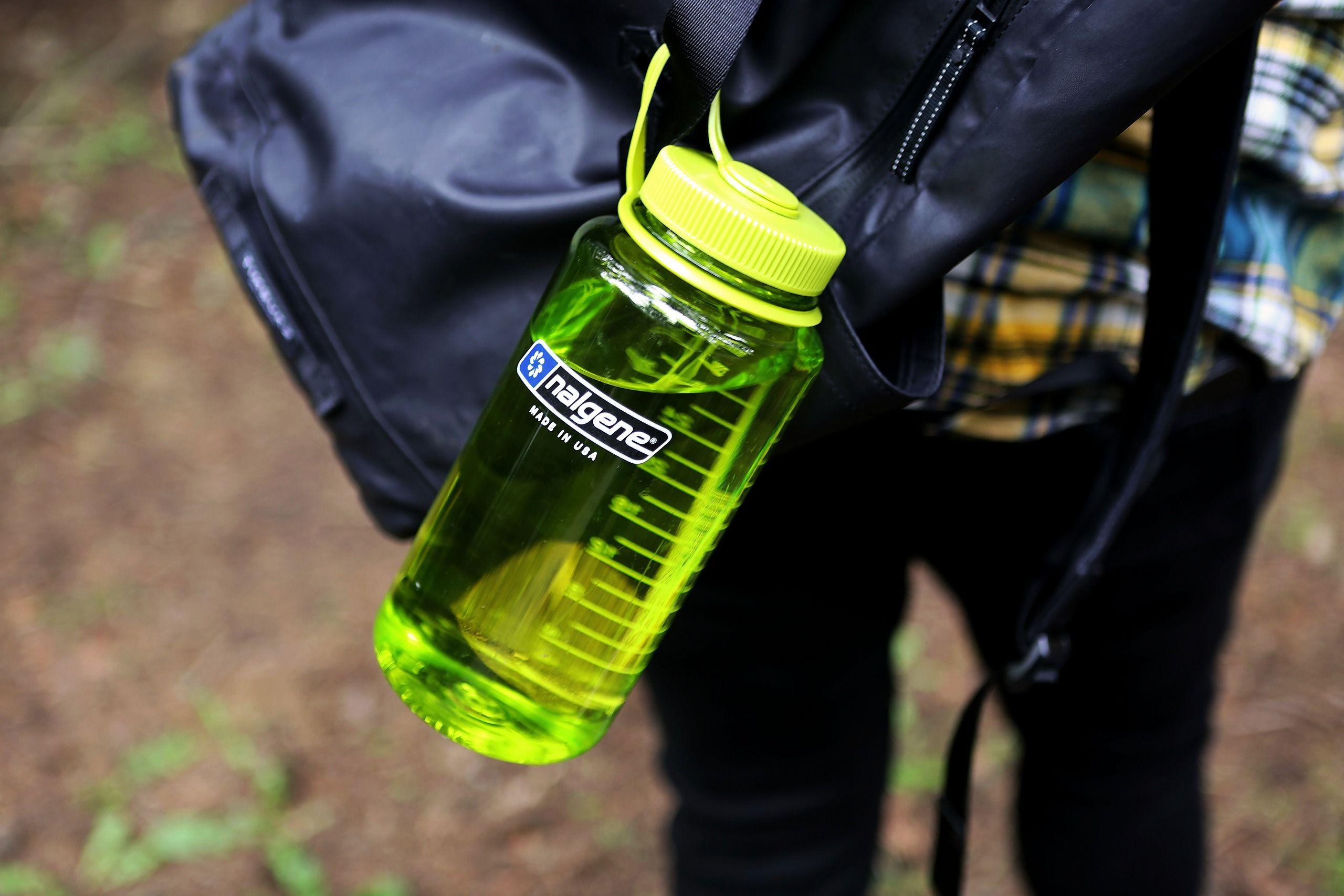 Nalgene Tritan Wide Mouth BPA-Free Water Bottle Green Olive 32 Ounce
