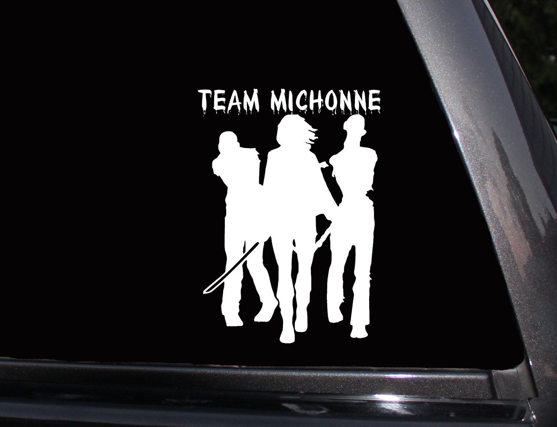 Walking Dead Team Michonne Vinyl Decal Phone Decal Laptop Decal Wall Decal Car Decal The Walking Dead Vinyl Decals Vinyl [ png ]