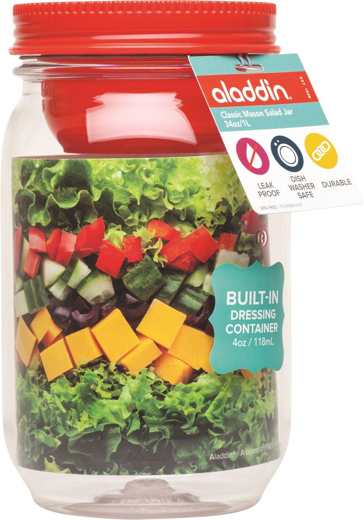 Aladdin classic mason salad jar holds ounces with a salad