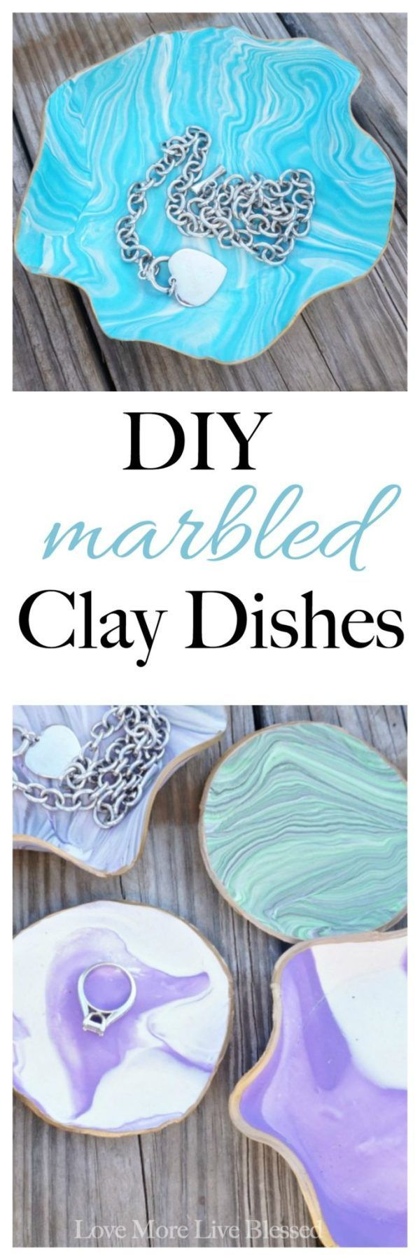 DIY Marbled Clay Dishes  Love More Live Blessed