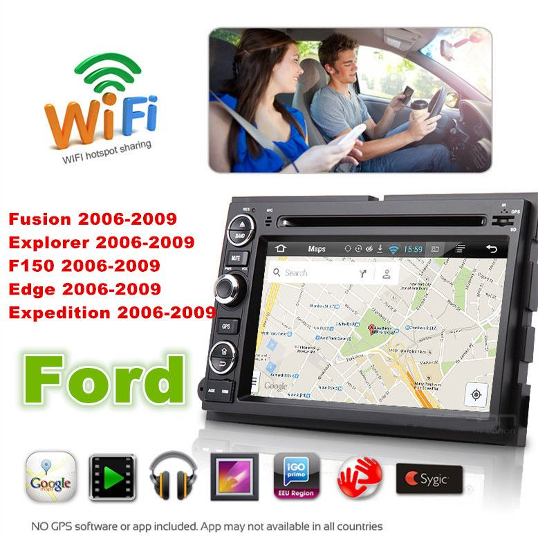 1024 600 Android 5 1 7 Car Dvd Gps For Ford Fusion Explorer F150