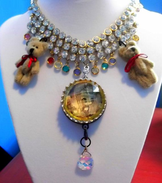 SWAROVSKI Crystal Gothic Lolita Punk Necklace by avabunny on Etsy