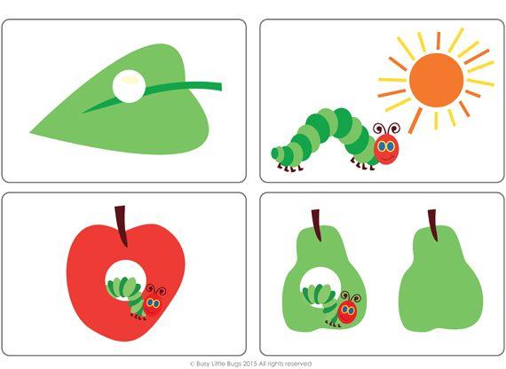 the happy caterpillar free flash cards raupe nimmersatt pinterest free hungry caterpillar. Black Bedroom Furniture Sets. Home Design Ideas