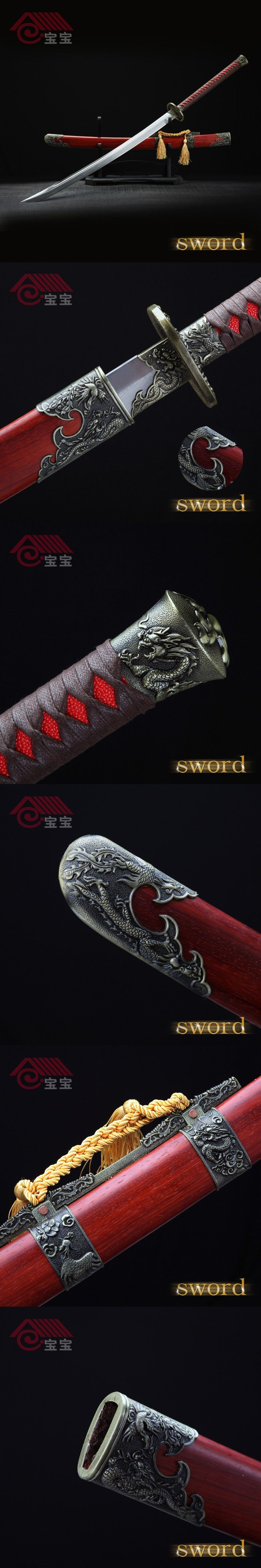 LQS15hj100040 dragon and phoenix sword vintage home decor Chinese ...