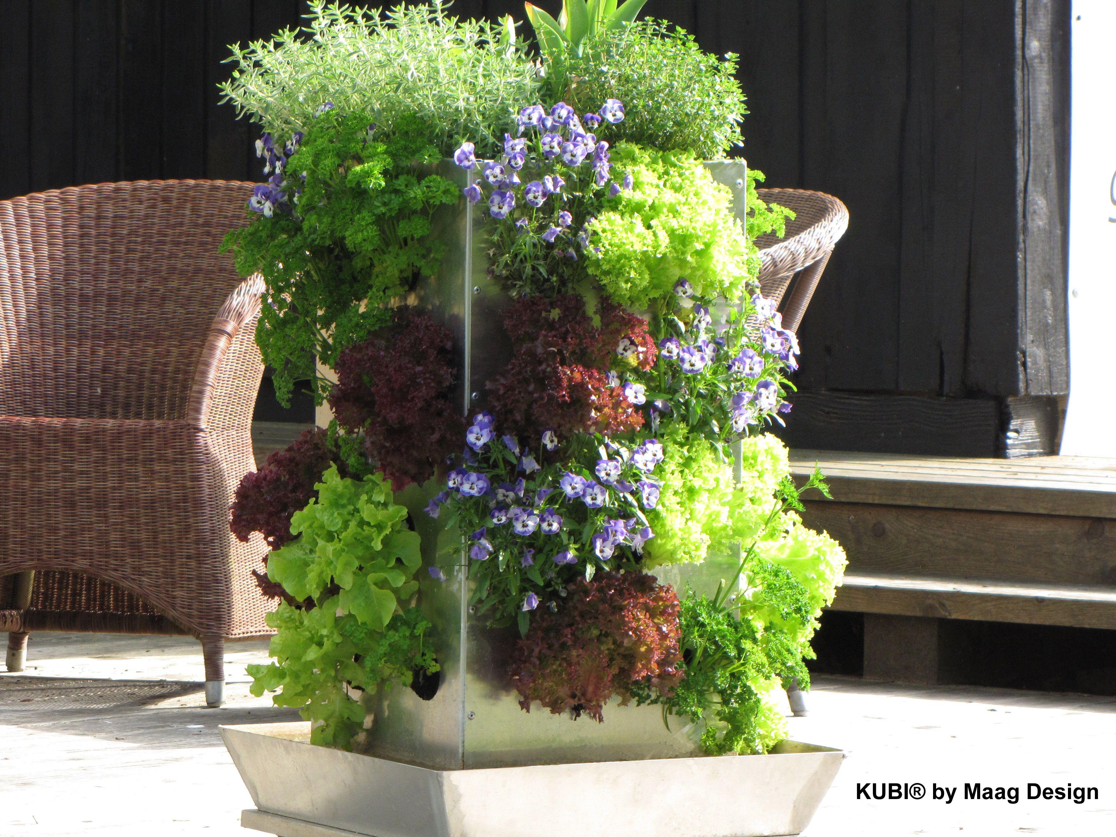 KUBI mit integriertem Komposter und Wasserspeicher Der KUBI ist ein perfekt abgestimmtes Anbausystem aus