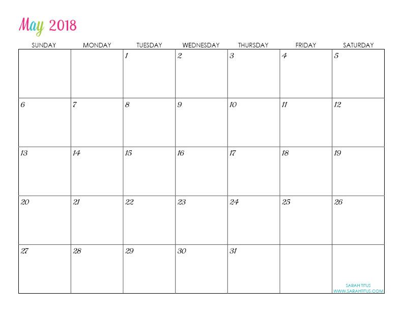Custom Editable Free Printable 2018 Calendar Menu planning, Free