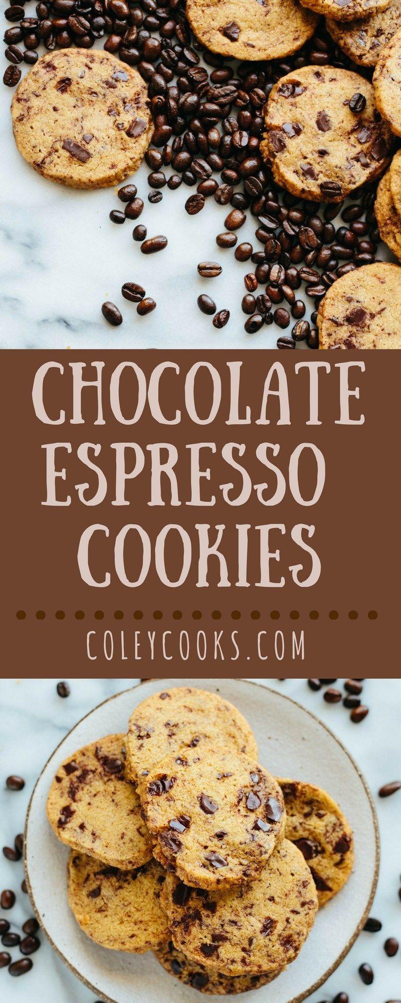 Chocolate Espresso Shortbread Cookies | Coley Cooks... #sliceandbakecookieschristmas