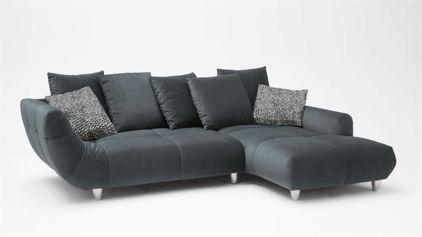 Ecksofa Calabria M Federkern Stoff Anthrazit 275x192 Cm Ecksofa Sofa Sofa Design
