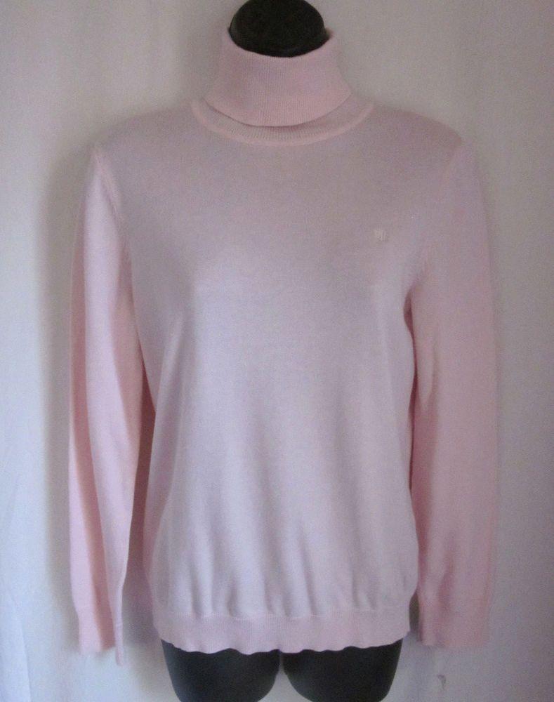 Lauren Ralph Lauren Women's Turtleneck Sweater Light Pink Long ...