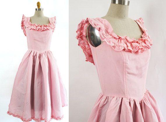 Pink Prom Dresses 1980 S