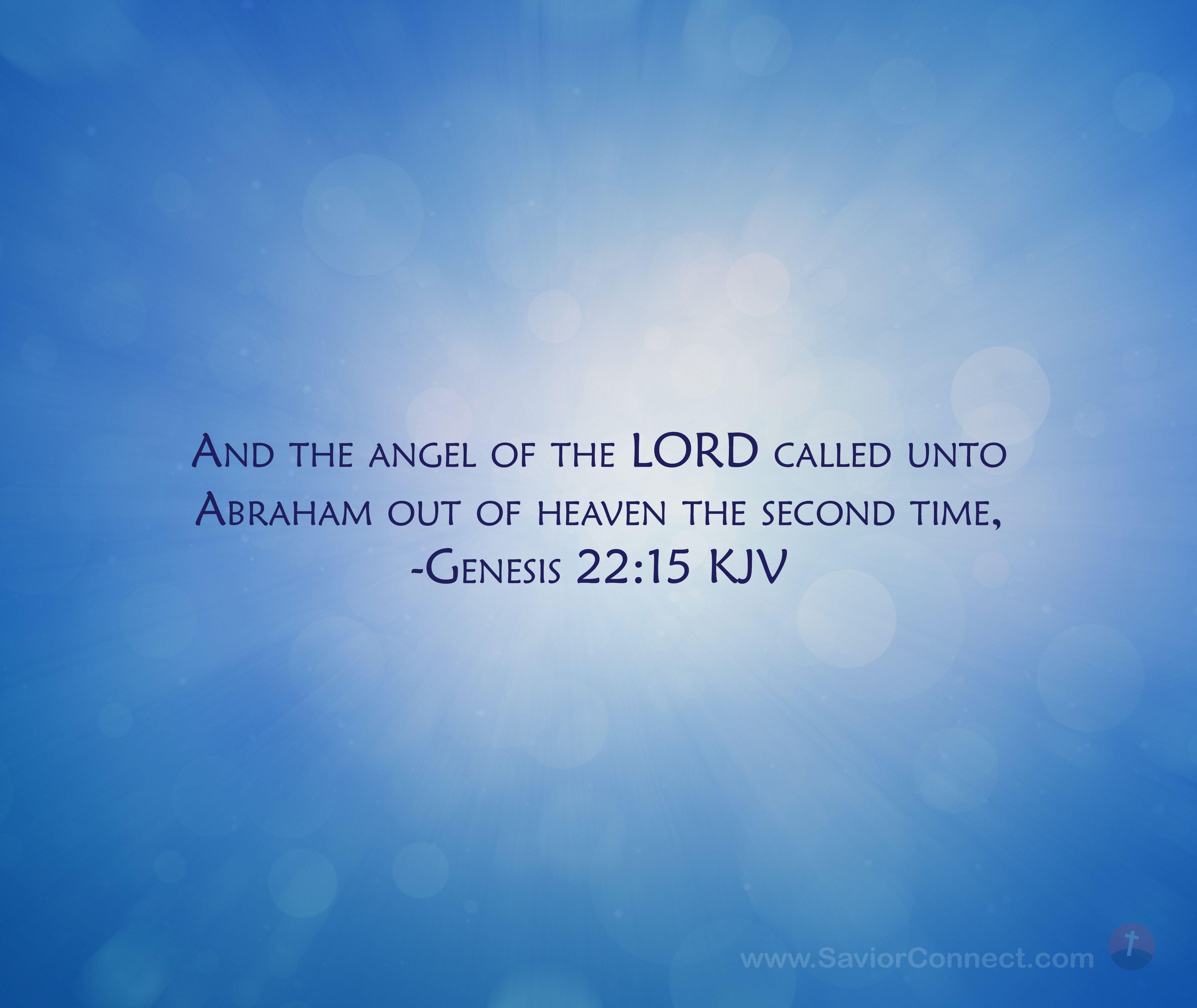 Genesis 22 15 King James Version In
