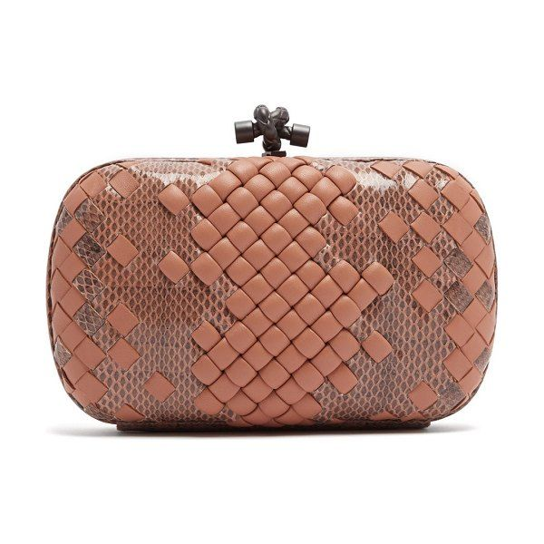 8dfaa81c24 Knot satin and watersnake clutch by Bottega Veneta  bottegaveneta  bags