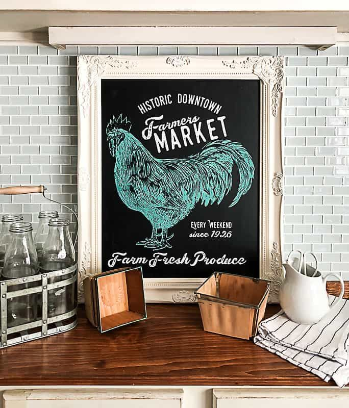 Kitchen Chalkboard Sign DIY With Chalk Couture | DIY ...